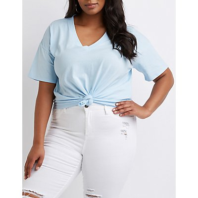 Plus Size V-Neck Tee