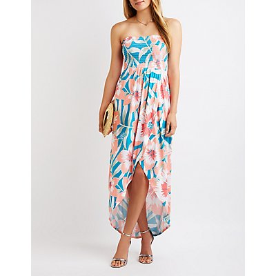 Floral Smocked Maxi Dress