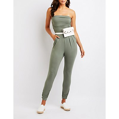 Ruched Strapless Jumpsuit