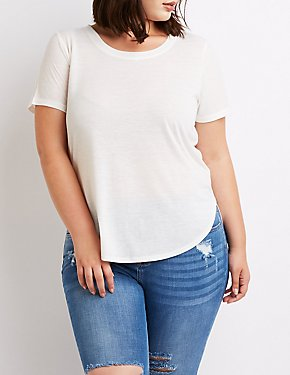 Plus Size Scoop Neck Tee