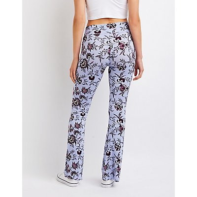 Floral Flared Pants