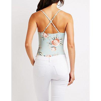 Floral Wrap Bodysuit
