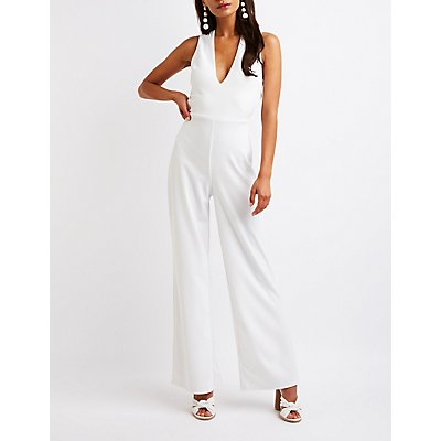 Crisscross Back Wide Leg Jumpsuit