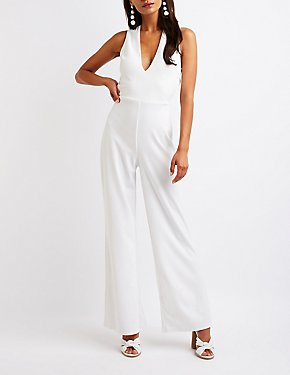 Crisscross Wide Leg Jumpsuit