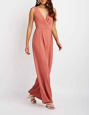 Tie Back Wide Leg Jumpsuit