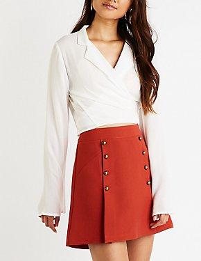 Button Up A Line Skirt
