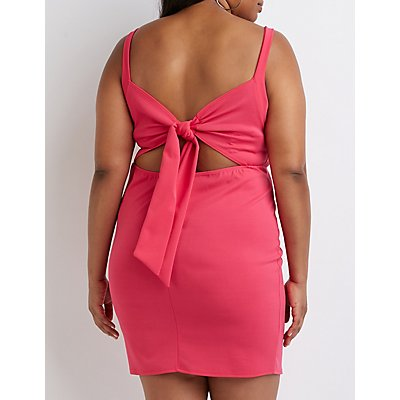 Plus Size Cut Out Bodycon Dress
