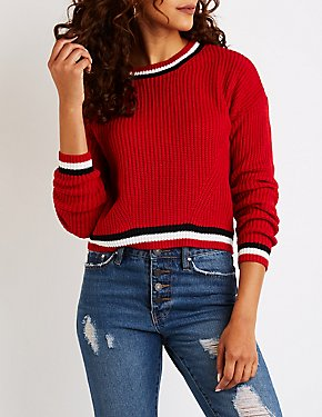 Stripe Detail Pullover Sweater
