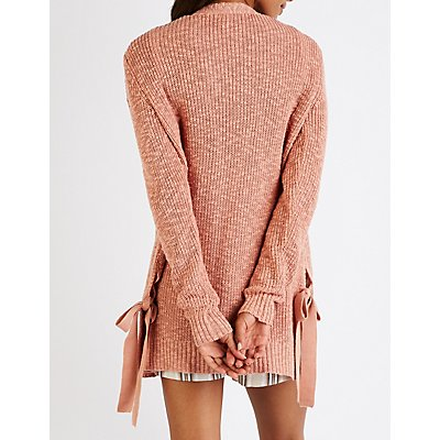 Tie Side Open Front Cardigan