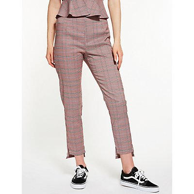 Plaid High Waisted Pants