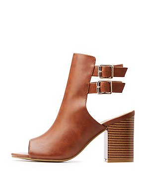 Bamboo Double Buckle Booties