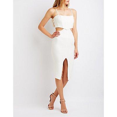 Cut Out Corset Bodycon Dress