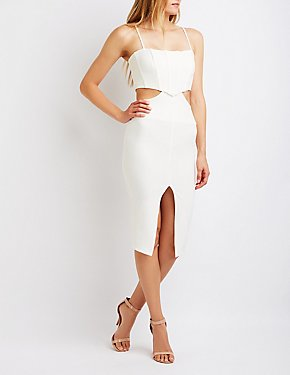 Cut Out Corset Bodycon Dress