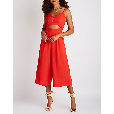 Cut Out Culotte Jumpsuit