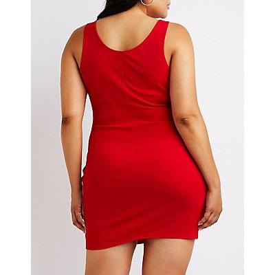 Plus Size Striped Bodycon Dress