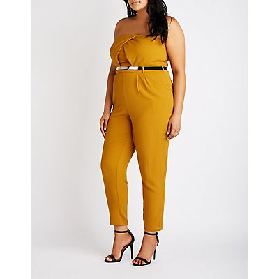 Plus Size Sleeveless Wide Leg Jumpsuit