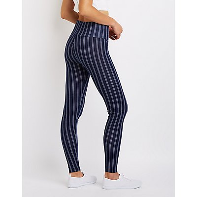 Striped High Waist Leggings