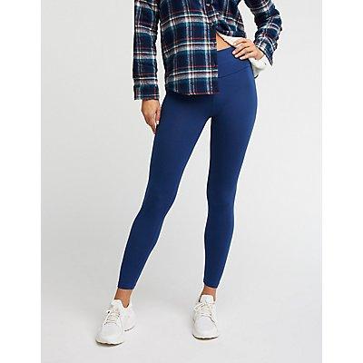 High-Waist Stretch Cotton Leggings