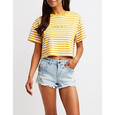Striped Honey Tee by Charlotte Russe