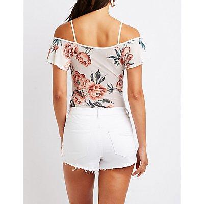 Floral Cold Shoulder Bodysuit