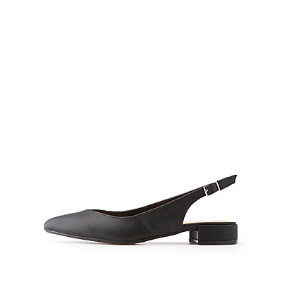 Pointed Toe Slingback Flats