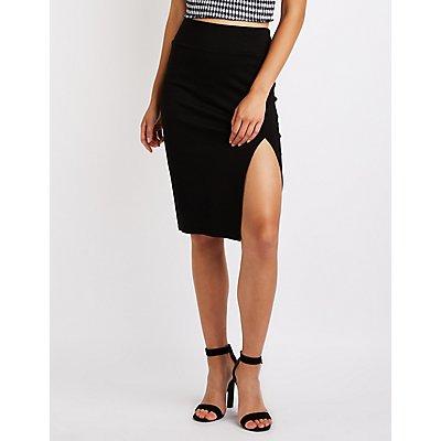 Single Slit Pencil Skirt