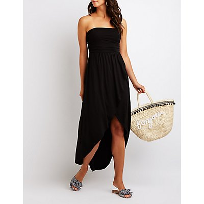 Strapless Wrap Maxi Dress