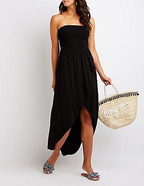 Strapless Wrap Maxi Dress