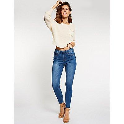 High Waist Push Up Skinny Jeans
