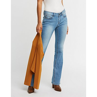 Mid Rise Boot Cut Jeans