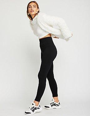 High Waist Faux Fur Lined Leggings
