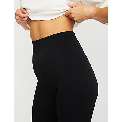 High Waist Faux Fur Lined Leggings