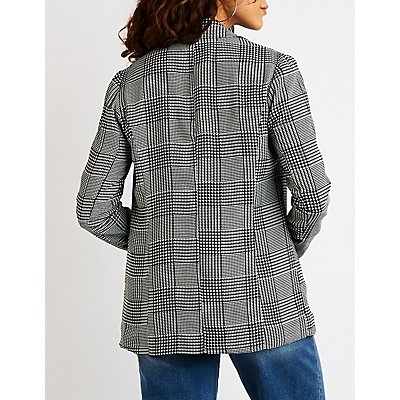 Glen Plaid Boyfriend Blazer