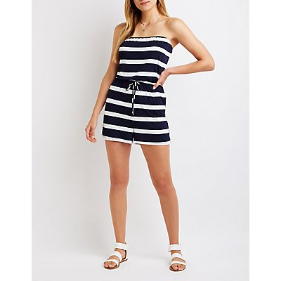 Striped Tube Romper
