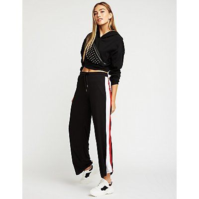 Side Striped Flare Joggers