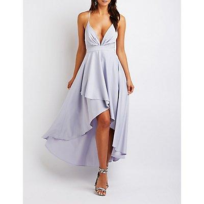 High Low Wrap Maxi Dress