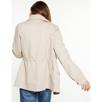 Twill Drawstring Anorak Jacket