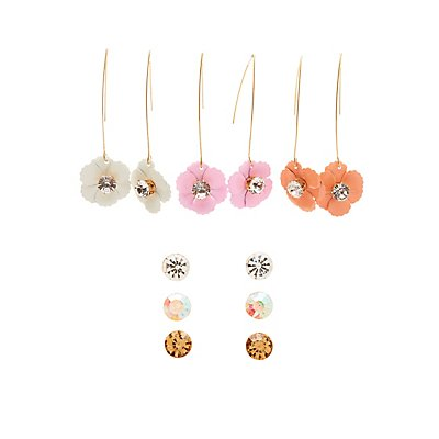 Floral Drop & Stud Earrings