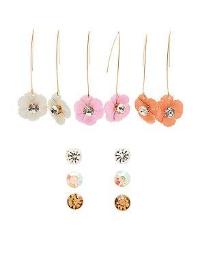 Floral Drop & Stud Earrings