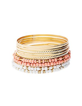 Beaded & Textured Bangles