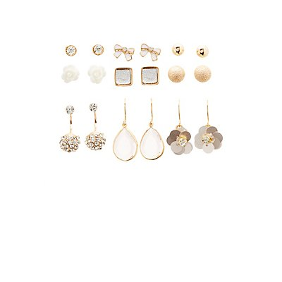 Stud Earrings - 9 Pack