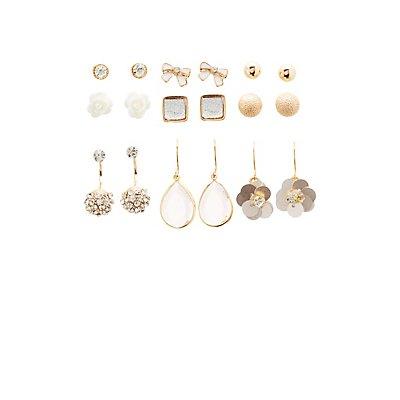Stud Earrings - 9 Pack