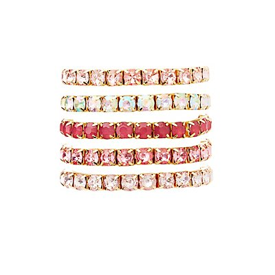 Stone Stackable Bracelets