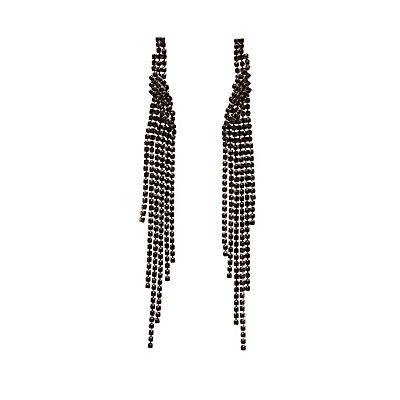 Rhinestone Cascading Earrings