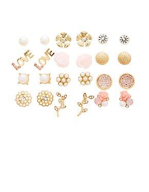 Stud Earrings - 12 Pack