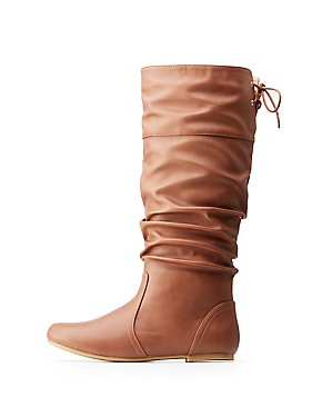 Ruched Riding Boots
