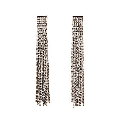 Rhinestone Cascading Earrings