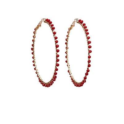 Beaded Hood Earrings