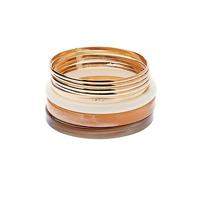 Resin & Bangle Bracelets - 9 Pack