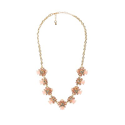 Flower Petal Bib Necklace